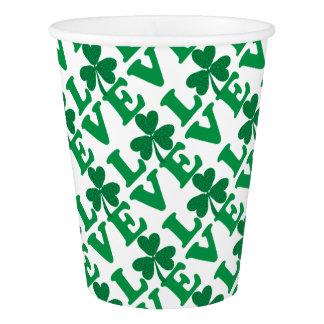 Love-Shamrock Paper Cup