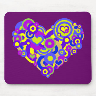 Love Shapes Mouse Pad