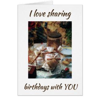LOVE ***SHARING BIRTHDAYS*** WITH U & FRIENDSHIP CARD