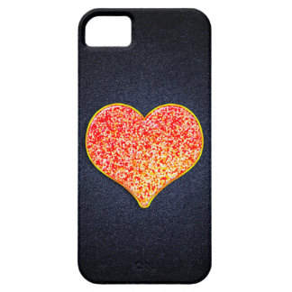 LOVE -Shiny Pink gold iPhone SE/5/5S, Barely There iPhone 5 Cover