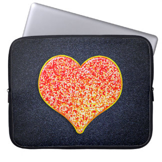 LOVE -Shiny Pink gold -  Laptop Sleeve 15 inch