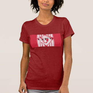LOVE  Shirt for Women- Cranberry/Red/White