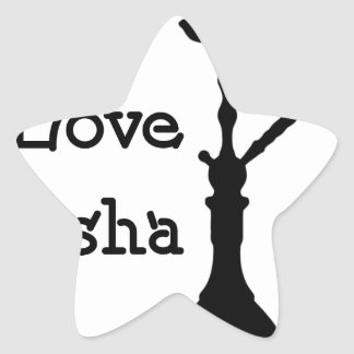 Love Shisha Star Sticker