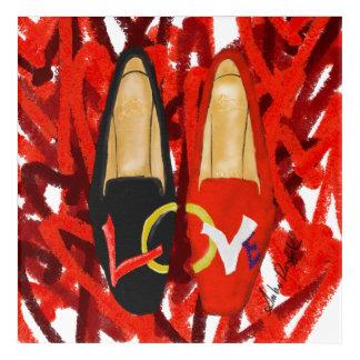 Love Shoes Acrylic Wall Art