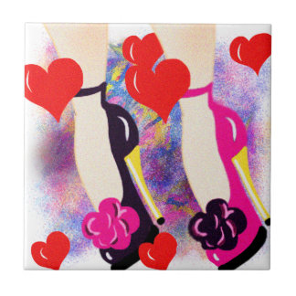Love Shoes - Fun Lesbian Gifts &  Accessories Ceramic Tile