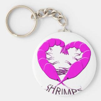 love shrimps key ring