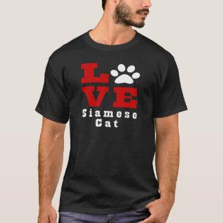 Love Siamese Cat Designes T-Shirt
