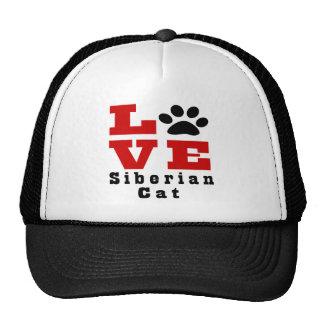 Love Siberian Cat Designes Cap