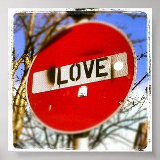 Love Sign Street Style Art Poster