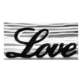 Love sign with white light streaks behind photo greeting card