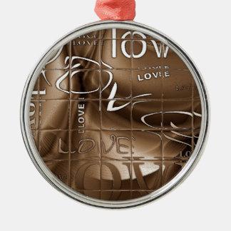 Love Silver-Colored Round Decoration
