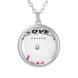 LOVE. SILVER PLATED NECKLACE