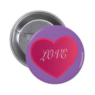 Love simple heart 2015 love pink color kids button