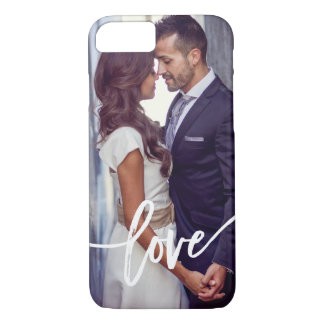 Love | Simple Modern Typography with your Photo iPhone 8/7 Case
