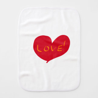 Love sketch burp cloth