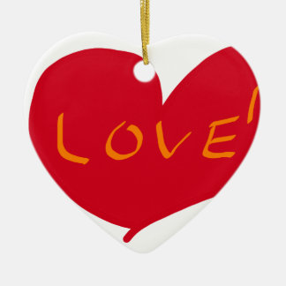 Love sketch ceramic heart decoration