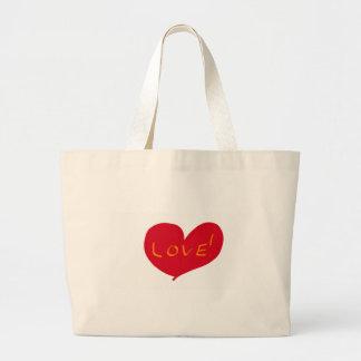 Love sketch large tote bag
