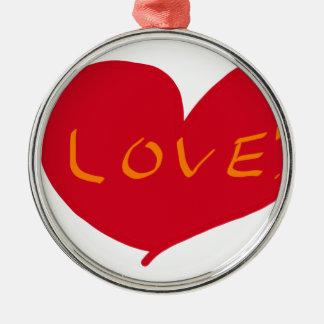 Love sketch metal ornament