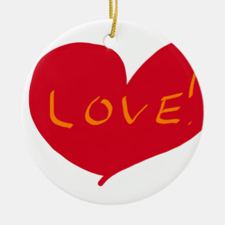 Love sketch round ceramic decoration