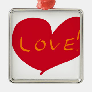 Love sketch Silver-Colored square decoration
