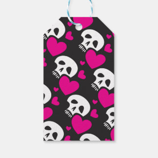 Love Skull Pattern Gift Tags