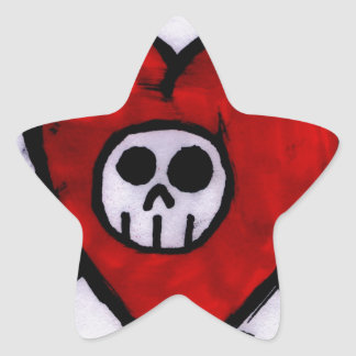 Love Skull Star Sticker