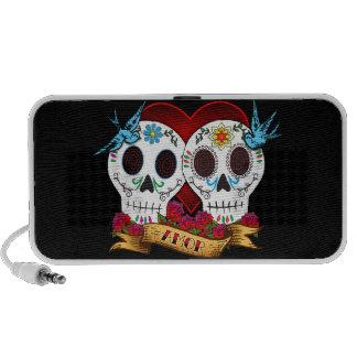 Love Skulls Doodle Laptop Speaker