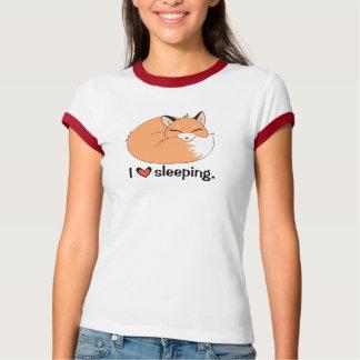 """""""Love Sleeping"""" Sleeping Fox T-Shirt"""