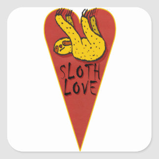 Love Sloth Square Sticker