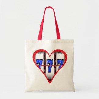 LOVE SLOTS - DISTRESSED TOTE BAG
