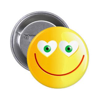 Love Smilie 6 Cm Round Badge