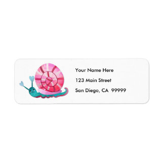 Love Snail Return Address Label