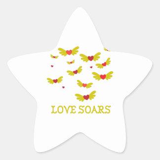 Love Soars Star Stickers