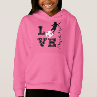 Love Soccer - I Play Like A Girl - Pink