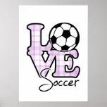 Love Soccer Poster