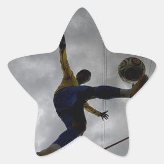 love Soccer Star Sticker