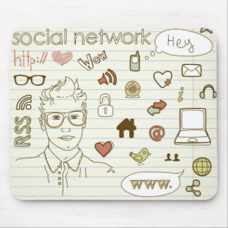 Love Social Network Mouse Pad