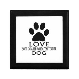 LOVE SOFT COATED WHEATEN TERRIER DOG DESIGNS GIFT BOX