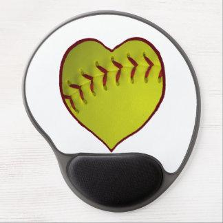 Love Softball Gel Mouse Mats