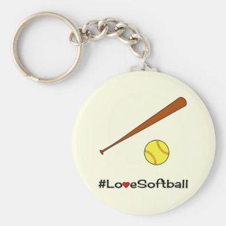 Love softball hashtag sports key ring