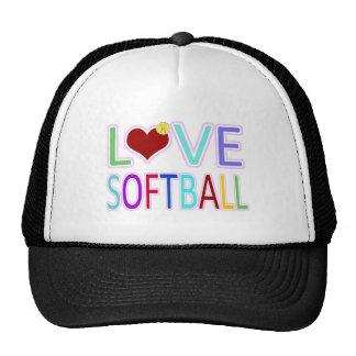 LOVE SOFTBALL MESH HATS