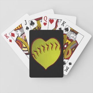 Love Softball Playing Cards