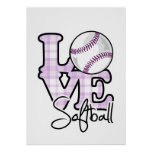 Love Softball Posters