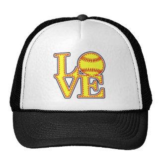 Love Softball Stitch Cap