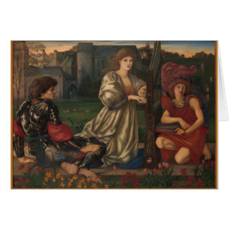 "Love Song ""Chant D'amour"" by Edward Burne-Jones Card"