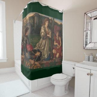 """""""Love Song"""" Edward Burne-Jones PreRaphaelite art Shower Curtain"""