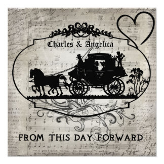 Love Song From This Day Forward Wedding Invite