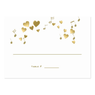 Love Song Music Wedding Place Card Business Cards