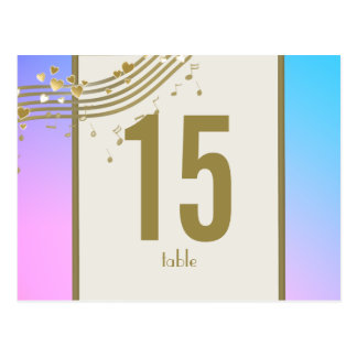 Love Song Table Number Post Card