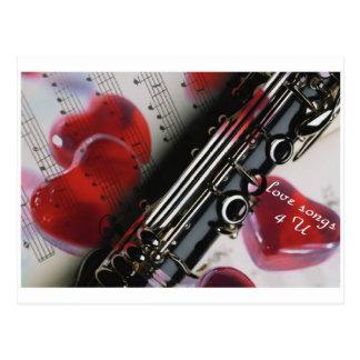 love songs 4 U Postcard